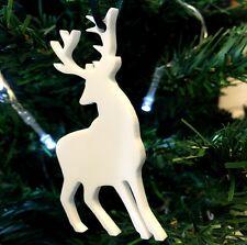 Bianco Renna Decorazioni Albero Di Natale - Confezione da dieci