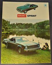 1974 GMC Sprint Pickup Truck Sales Brochure Folder SP Nice Original 74