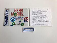 Notice - Gear Works - Nintendo Game Boy - PAL NOE