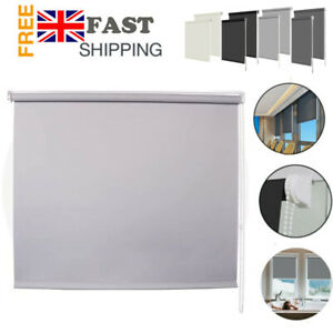 BLACKOUT ROLLER BLINDS MADE TO MEASURE 100% THERMAL PLAIN COLORS EASY TRIMMABLE
