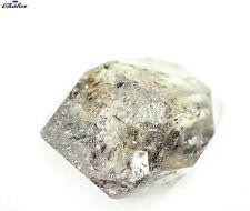 1x Herkimer Diamant -  Bergkristal Doppelender 3,62ct. 11,5x9,0x6,6mm (1204F)