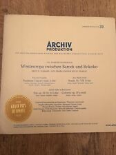 Archiv Production Western Europe 1650 To 1800 Vinyl LP Rare Classical Baroque