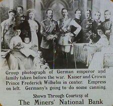 Group Photos of German Emperor & Family Before WW1, Magic Lantern Glass Slide