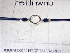 "Unwritten Sterling Silver Bracelet, Blue Circle Parachute Bracelet ""MSRP $50"""