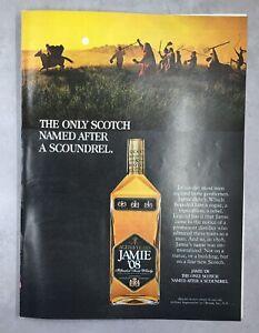 1960s magazine Ad JAMIE '08 Scotch Whiskey Liquor Bar Alcohol Drink mancave