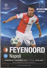 Programma / Programme Feyenoord Rotterdam v SSC Napoli 06-12-2017 UEFA CL