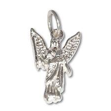 Sterling Silver .925 Archangel Jofiel, Angel of Artists & Beauty Charm Necklace
