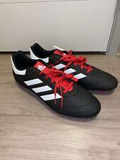 Adidas Men's Goletto Vi Fg Soccer Cleats Black / White / Red Men's Size 13