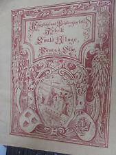 21320 Katalog Korbstuhl Polsterfabrik 1890 Gründerzeit Möbel Pirna Ewald Kluge