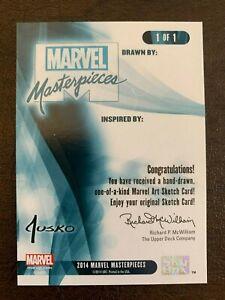 2016 Marvel Masterpieces Jusko Blank Sketch Card