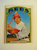 Lot 4 Topps 1970's Cincinnati Reds 1972 #433 Johnny Bench 1978 #427 Mario Soto