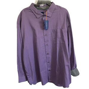 $110 Tommy Bahama Mens L/S Capeside Herringbone Shirt Large Purple Flip Cuff