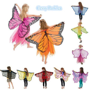 A22 Kids Soft Fabric Fairy Butterfly Wings + Mask Book Week Costumes Accessories
