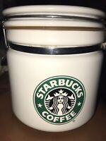 Starbucks Original Siren Mermaid Split tail Logo White & Green Coffee Canister