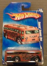 HOT WHEELS RARE SURFIN' School Bus #111 2009 Release NIP 3+ HW CITY WORKS