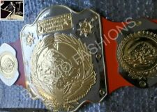 WWF First Ever Intercontinental Championship Gold Zinc Plates Title Leather Belt