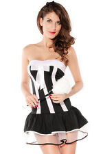 French Maid Halloween Costume Black White Dress Up Cosplay One Size 8107