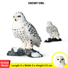 Snowy Owl Bird Figure Animal Decor Model Bubo scandiaca Collector Toy Kid Gift