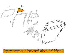 Toyota Oem 15-16 Camry Glass-Rear Door-Fixed Window Right 6812306220