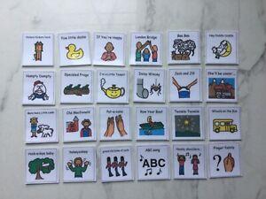 PECS/Boardmaker Nursery Rhyme Cards for Autism/ASD/SEN/ADHD/Aspergers