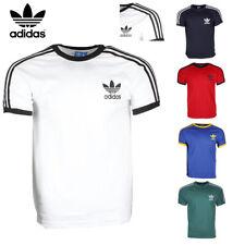 Adidas Men's Original Short Sleeve 3 Stripe Essential California T-Shirt