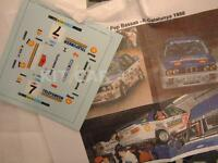 "DECAL CALCA 1/43 BMW M3  ""TELEFUNKEN"" J.BASSAS RALLY CATALUNYA - C. BRAVA 1988"