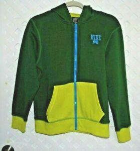 NIKE Green Hoodie Sweatshirt Jacket Kids Size 12 / 13 yrs Full Zip Hoodie