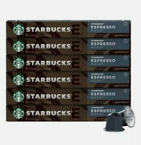 60 Starbucks Espresso Roast by Nespresso, 10 Capsules x 6 Pack Coffee