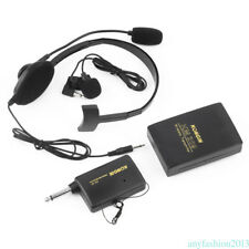 VHF Podium Sistema inalámbrico de auriculares Lavalier Micrófono transmisor Fm