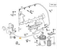 New Genuine Mercedes Diesel Engine Fuel Filter Pipe To Feed Pump A6110701032 OEM