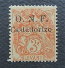 nystamps France Castellorizo Stamp # 16 MOGH $68 Signed    O22y3318