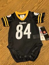 Pittsburgh Steelers NFL Baby Antonio Brown Jersey Bodysuit Size 12 MO -