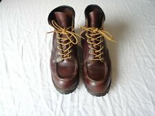 Red Wing Boots - Men's Size UK10 EU44.5 - Brown Leather Vibram Soles Walking