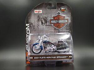 2001 FLSTS HERITAGE SPRINGER HARLEY DAVIDSON MOTORCYCLE 1:24 SCALE DIECAST MODEL