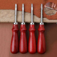 4pcs Leather Craft Edge Beveler Skiving Craft Tool Kit Keen Leather Beveler Tool