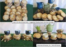 """25 pcs 3-4x.5"""" SPALTED Birch Wood Tree Log Slice Round Disk Wedding Crafts Decor"""
