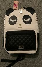 Betsey Johnson Unicorn Panda Face Backpack School Travel Shoulder Bag NWT