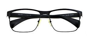 PRADA SPR51O FAD-5W1 58mm Matte Black Sunglasses Frames Only Italy