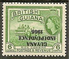 GUYANA 6c INVERTED OVPT SG424b MNH