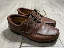 TIMBERLAND GORE-TEX LEATHER SHOES UK 8 (US 8.5, EU 42) BROWN