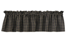 Park Designs Primitive Country Black & Tan STURBRIDGE Window Valance