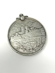 Antique WW1 Solid Silver Highland Infantry PTE J Crowther Indian Service Medal