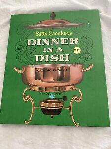 Vtg Betty Crocker Cookbook Dîner en Un Dish 1st Edition Seconde Prin 1965 Spiral
