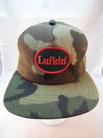 Vintage LUFKIN Tools Camo Baseball Hat Cap Trucker Mesh Made In USA Hillbilly