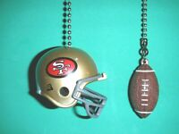 SAN FRANCISCO 49ers  HELMET AND FOOTBALL CEILING FAN PULL CHAIN SET