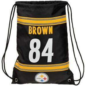 NEW! Antonio Brown #84 Drawstring Backpack Pittsburgh Steelers NFL Player Bag