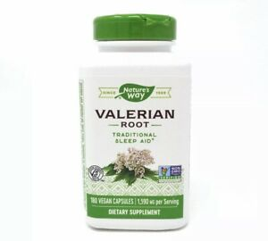 Valerian Root 1,590 mg by Nature's Way 180 Capsules