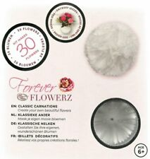 Craft Buddy Forever Flowerz Classic Carnations - White Ff03wh - Makes 30 Flowers