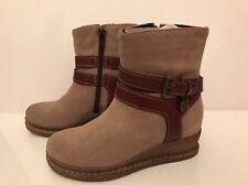 Luxus Patrizia Pepe Wild Leder Boots Stiefel Mädchen Schuhe 28 Beige braun Neu