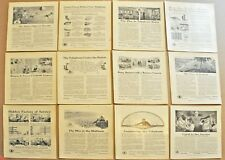 1914-16 BELL TELEPHONE advertisements x12, AT&T, early telephone ads qty 12